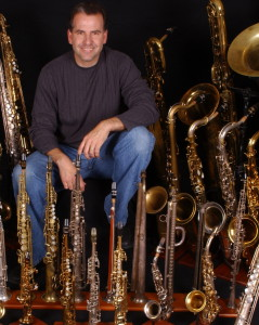Rob Verdi and his Saxophones